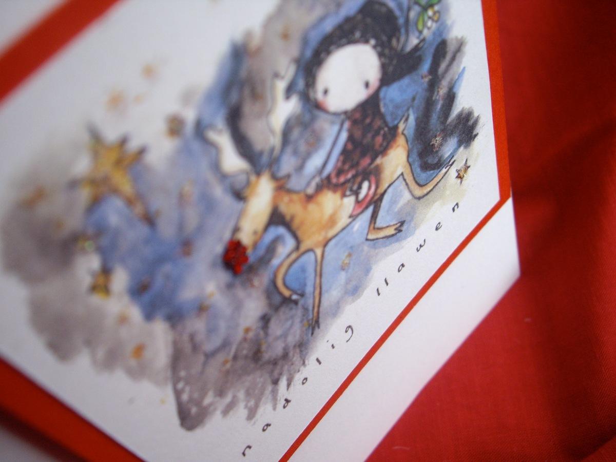 Merch fach Gymraeg a'i charw (N2)  // Little Welsh girl and her reindeer (N2)